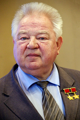"Medal ""For Distinguished Labour"" - Cosmonaut Georgy Grechko, a recipient of the Medal ""For Distinguished Labour"""