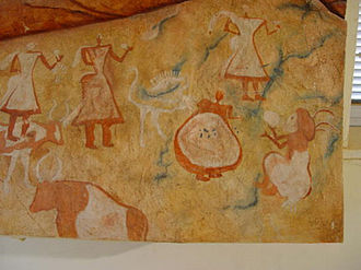Demographics of Libya - Cave art at the Germa Museum