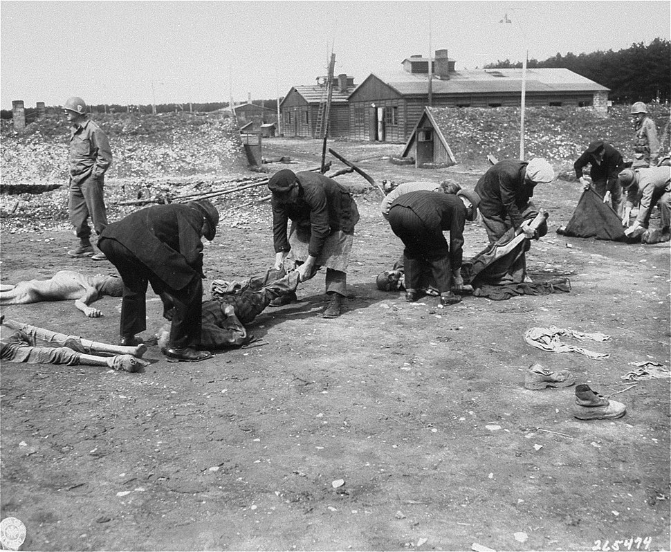 German civilians forced to bury Kaufering IV victims