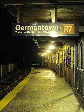 Germantown station (SEPTA) - Image: Germantown Septa Station 2