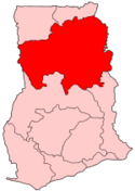 Location of Northern Region in Ghana