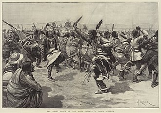 Wounded Knee Massacre - The Ghost Dance as depicted