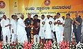 Ghulam Nabi Azad and the Union Minister for Labour and Employment, Shri Mallikarjun Kharge laid the foundation stone of the ESIC Para-Medical & Allied Health Science Institute, at Gulbarga on July 23, 2011.jpg