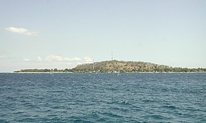 Gili Islands - Gili Trawangan as seen from Gili Meno.