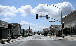 Downtown Gilroy in April 2007