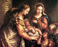 Giovanni Antonio Guardi - Holy Family with St John the Baptist and St Catherine - WGA10900.jpg