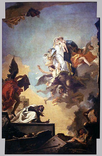 [peinture] Vos oeuvres préférées - Page 2 391px-Giovanni_Battista_Tiepolo_-_Apparition_of_the_Virgin_to_St_Simon_Stock_-_WGA22298