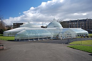 Glasgow Botanic Gardens - The Kibble Palace exterior.