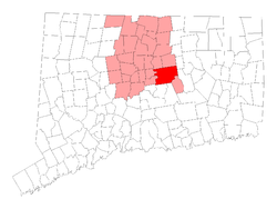 Location of Glastonbury in Hartford County, Connecticut