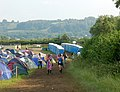 Glastonbury Festival - campsite and loos looking southwest - geograph.org.uk - 1388951.jpg