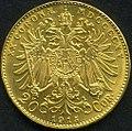 Gold 20 Kronen 1915 hinten.jpg