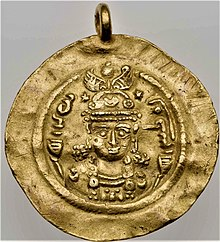 Gold coin of Boran, daughter of Khusrau II.jpg