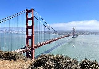 Golden Gate Bridge San Francisco Bay suspension bridge