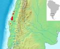 Gomortega keule range map-2.PNG