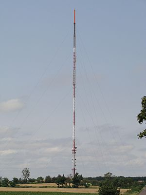 Góra, Śrem County - TV tower (RTCN Śrem) in Góra