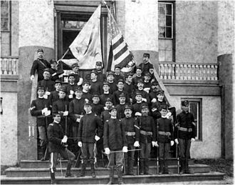 Governor's Guards (Florida) - The Governor's Guards on the Capitol steps in 1899.