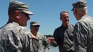 Dennis Daugaard - Governor Dennis Daugaard is briefed on flood preparations