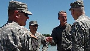 Dennis Daugaard - Governor Dennis Daugaard is briefed on flood preparations