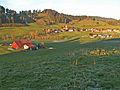 Grünenbach - Zwerenberg - Ebratshofen v SW, Herbstabend.JPG