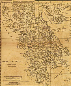 Graecia Antiqua Map of Ancient Greece made in 1814.jpg