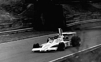 Embassy Hill - Hill driving the Lola T370 at the 1974 British Grand Prix