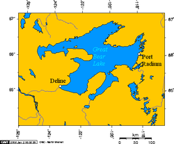 Great Bear Lake - Map