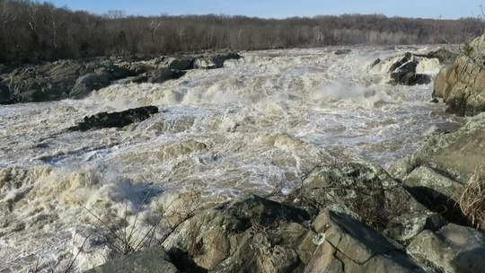 Great falls of the potomac river, between virginia and maryland in the