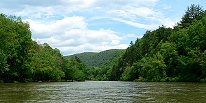 Greenbrier River - The Greenbrier River near the town of Anthony in Greenbrier County
