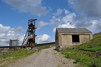 Weardale - Groverake mine, Rookhope, closed in 1999 (lead and fluorspar)
