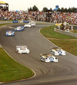 Sports Motorsports Auto Racing Endurance on Imsa Gtp Sports Cars Racing At Mid Ohio Sports Car Course In 1991