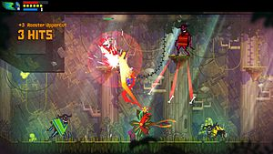 Guacamelee! - Screenshot of the gameplay