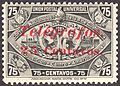 Guatemala 25c on 75c telegraph stamp 1898.jpg