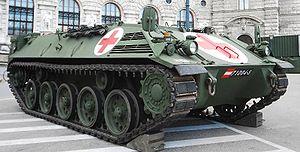 Saurer 4K 4FA - A Saurer APC outfitted for combat medical evacuation