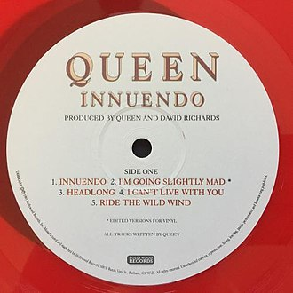"Hollywood Records - The ""Innuendo"" album released by Queen in 1991 on Hollywood Records."