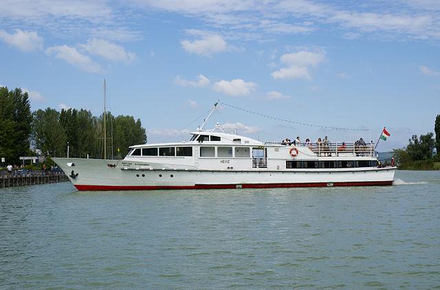 A Hévíz hajó Balatonföldvár kikötőjében 2010-ben