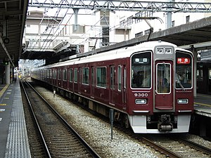 Hankyu Kyoto Main Line - A 9300 series EMU on a limited express service
