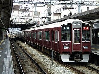 Hankyu Kyoto Main Line - A 9300 series EMU on a limited express service
