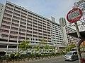 HK 油麻地 Yau Ma Tei 窩打老道 Waterloo Road 廣華醫院 Kwong Wah Hospital facade Jan-2014 KMBus stop signs.JPG