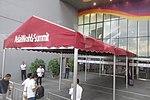 HK Arena 亞洲國際博覽館 AsiaWorld-Expo Summit sign walkway cover n visitors October 2017 IX1.jpg