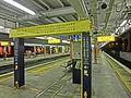 HK MTR Station 火炭站 Fo Tan platform night yellow First Class sign Nov-2013 001.JPG