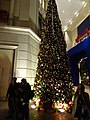 HK Wan Chai night Lee Tung Avenue Johnston Road Xmas tree Dec-2015 DSC (2).JPG