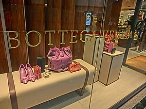 HK night 銅鑼灣 mall 香港時代廣場 Times Square shop Bottega Veneta Causeway Bay Mar-2013.JPG