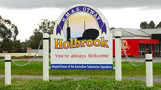 Holbrook, New South Wales - Holbrook town entry sign