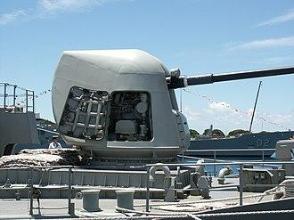 "5""/54 caliber Mark 45 gun - Image: HMAS Arunta 5inch"