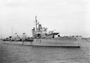Convoy SC 104 - Image: HMS Fame 1942 IWM FL 13040