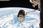 HTV-6 grappled by the International Space Station's robotic arm (1).jpg