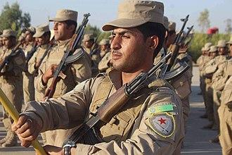 Self-Defense Forces (Rojava cantons) - HXP militiamen of Afrin Canton.