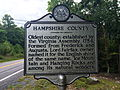 Hampshire County Historical Marker Cacapon Road Woodrow WV 2014 09 11 01.jpg