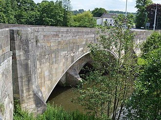 Mayfield, Staffordshire - Image: Hanging Bridge Mayfield Geograph 3535819 by John M