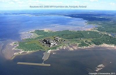 Planerad placering av kärnkraftverket vid Bottenvikens strand